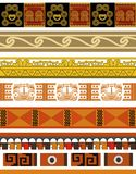Aztec pattern designs Royalty Free Stock Images