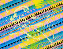 Aztec pattern paint. Splatter as unusual modern design Stock Images
