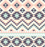 Aztec pattern. Seamless pattern with ethnic aztec ornament Stock Images