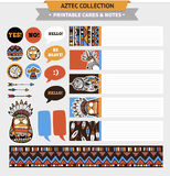 Aztec printable set Stock Photography
