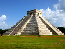 Aztec pyramid from Mexico. Mesoamerican pyramid Royalty Free Stock Photo