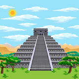 Aztec pyramid Stock Photography