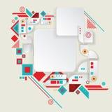Aztec ram för modern vektor för materiell design Fotografering för Bildbyråer