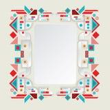 Aztec ram för modern vektor för materiell design Arkivfoto