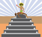 Aztec Ritual Royalty Free Stock Images