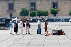 Aztec Ritual at Zocalo Ciudad de Mexico Stock Photography
