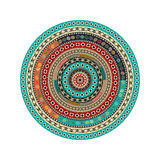 Aztec round motif Royalty Free Stock Photography