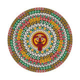 Aztec round motif. Aztec round decorative design element Royalty Free Stock Images