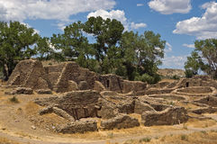 Aztec ruïneert Nationaal Monument royalty-vrije stock fotografie