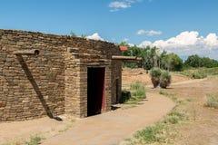 Aztec ruïneert Nationaal Monument in New Mexico Stock Afbeelding