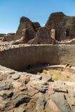 Aztec ruïneert Nationaal Monument in New Mexico Stock Afbeeldingen