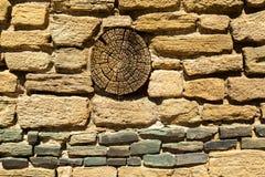 Aztec ruïneert Nationaal Monument in New Mexico Royalty-vrije Stock Afbeeldingen