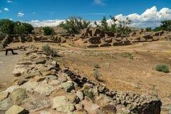 Aztec ruïneert Nationaal Monument in New Mexico stock fotografie