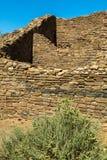 Aztec ruïneert Nationaal Monument in New Mexico royalty-vrije stock foto's