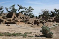 Aztec ruïneert Nationaal Monument in New Mexico, de V.S. royalty-vrije stock foto