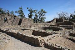 Aztec ruïneert Nationaal Monument in New Mexico, de V.S. stock afbeelding
