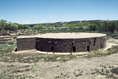 Aztec Ruins in New Mexico Royalty Free Stock Photo