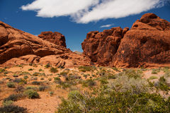 Aztec Sandstone Rocks in Valley of Fire Royalty Free Stock Photo