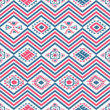 Aztec seamless color pattern. Vector seamless pattern with aztec ancient mexican ornaments Stock Image