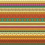 Aztec seamless pattern. Stock Photo
