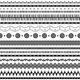 Aztec seamless pattern. Can be used in fabric design for making of clothes, accessories, decorative paper, wrapping, envelope, web design, etc. Swatches of Stock Images