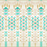 Aztec seamless pattern. Ethnic abstract geometric texture. Hand drawn navajo fabric. geometric art print Use for wallpaper, cloth Stock Images