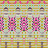 Aztec seamless pattern. Ethnic abstract geometric texture. Hand drawn navajo fabric. geometric art print Use for wallpaper, cloth Royalty Free Stock Photo