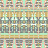 Aztec seamless pattern. Ethnic abstract geometric texture. Hand drawn navajo fabric. Used for wallpaper, web page background, fabr Royalty Free Stock Photo