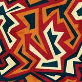 Aztec seamless pattern with glass effect Stock Photography