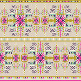 Aztec seamless pattern on pastel background. Ethnic abstract geometric texture. Hand drawn navajo fabric. Used for wallpaper, web. Colorfull aztec seamless Vector Illustration