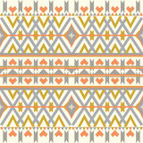 Aztec seamless pattern on pastel background. Ethnic abstract geometric texture. Hand drawn navajo fabric. Used for wallpaper, web. Colorfull aztec seamless Stock Illustration