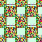 Aztec seamless pattern with triangles Stock Photos