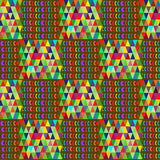 Aztec seamless pattern with triangles Stock Photography