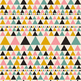 Aztec seamless pattern with triangles. Ethnic abstract geometric texture. Used for wallpaper, web page background, fabric, paper,. Postcards Vector Illustration