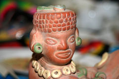 Aztec statue Royalty Free Stock Photography