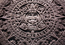 Aztec stone calendar stock photo