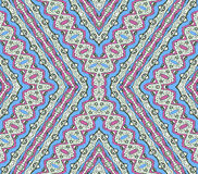 Aztec Style Pattern in Pastel Colors Stock Photo
