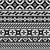Aztec style seamless pattern stock illustration
