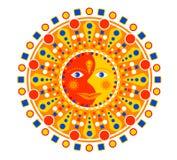 Aztec style  sun Stock Image