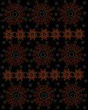 Aztec Style Symbol on Black Royalty Free Stock Photo