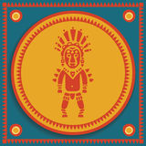 Aztec on stylized background Stock Photo