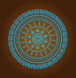 Aztec sun circle ornament Stock Photo