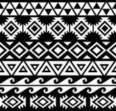 Aztec svartvit stam- modell Royaltyfri Illustrationer