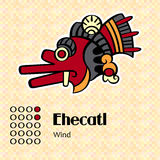 Aztec symbol Ehecatl stock illustrationer
