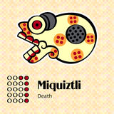Aztec symbol Miquiztli royaltyfri illustrationer