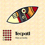Aztec symbol Tecpatl Royalty Free Stock Images