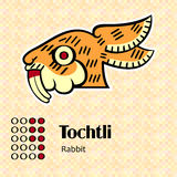Aztec symbol Tochtli royaltyfri illustrationer
