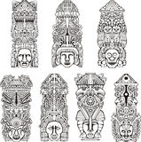 Aztec totem poles Stock Images