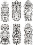 Aztec totempoler Arkivbild