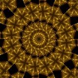 Aztec treasure. Abstract fractal image resembling golden aztec treasure Stock Images